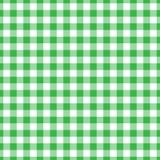 Lumberjack plaid pattern in green and black. Seamless vector pattern. stock illustration