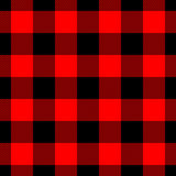 Lumberjack Plaid Pattern In Red And Black. Seamless Vector Pattern. Simple Vintage Textile Design Stock Image