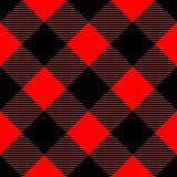 Lumberjack plaid pattern in red and black. Seamless vector pattern. Simple vintage textile design Royalty Free Stock Image