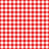 Lumberjack plaid pattern in red and black. Seamless vector pattern.   Royalty Free Stock Photography