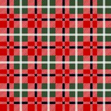 Lumberjack plaid pattern in red and black. Seamless vector pattern. Simple vintage textile design. Eps 10 vector illustration