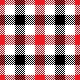 Lumberjack plaid pattern in red and black. Seamless vector pattern. Simple vintage textile design vector illustration