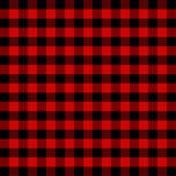 Lumberjack plaid. Scottish cage background. Lumberjack plaid. Scottish pattern in red and black cage. Scottish cage. Scottish checkered background in classic stock illustration