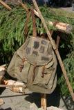 lumberjack plecak s Obraz Royalty Free