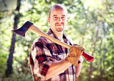 Lumberjack portrait Stock Photography