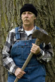 Lumberjack portrait in vertical format Royalty Free Stock Photo