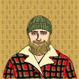 Lumberjack portreta wektor Obrazy Royalty Free