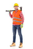 Lumberjack posing with an axe Stock Photos