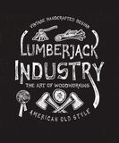 Lumberjack przemysł ręka patroszona Royalty Ilustracja