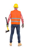 Lumberjack. Rear view. Royalty Free Stock Image