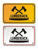 Lumberjack rectangle signs Stock Photo