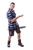 Lumberjack reklama coś Zdjęcia Royalty Free
