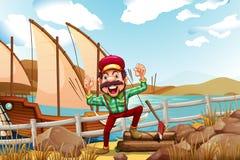 A lumberjack shouting Royalty Free Stock Photo