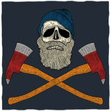 Lumberjack Skull Poster Stock Photos