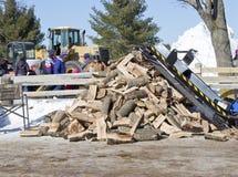 Lumberjack Stack of Wood royalty free stock photography