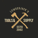 Lumberjack Tools and Supply Abstract Vintage Label Stock Photos