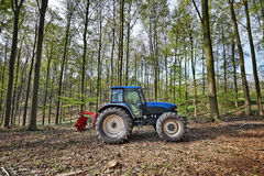 The lumberjack tractor Royalty Free Stock Image