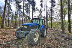 The lumberjack tractor Stock Photos