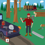Lumberjack vector icon set. Stock Photo
