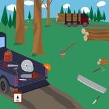 Lumberjack vector icon set. Stock Image