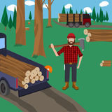 Lumberjack vector icon set. Royalty Free Stock Photos