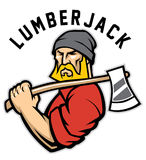 Lumberjack. Vector of lumberjack mascot, easy to edit and suitable as a mascot