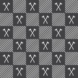 Lumberjack vector plaid pattern with axes Stock Photo