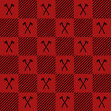 Lumberjack Vector Plaid Pattern With Axes Royalty Free Stock Photo