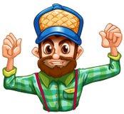 A lumberjack wearing a checkered longsleeve Stock Photography