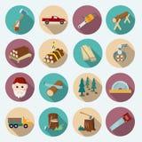 Lumberjack Woodcutter Icons Royalty Free Stock Photo