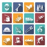 Lumberjack Woodcutter Icons Royalty Free Stock Image
