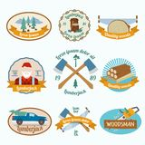Lumberjack woodcutter label Royalty Free Stock Images