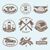 Lumberjack woodcutter label Stock Images