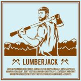 Lumberjack woodcutter poster Stock Photo