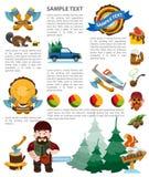 Lumberman infographics elements vector illustration