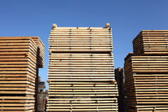 Lumberyard. Lumber yard and blue sky Royalty Free Stock Photo