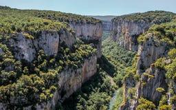 Lumbier canyon in Navarra royalty free stock photos