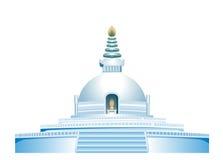 Lumbini, un monastero buddista Immagine Stock