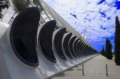 LUMBRACLE-stad av konster och vetenskaper Valencia Spanien Arkivbild