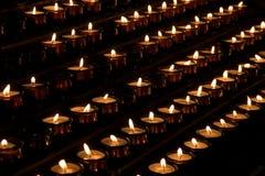 Lume di candela Fotografie Stock