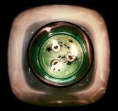 Lume di candela da sopra Fotografia Stock