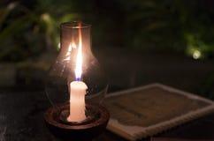 Lume di candela misterioso Fotografie Stock