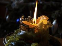 Lume di candela piacevole a casa fotografie stock libere da diritti