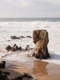 Lumeboo beach in Ferrol, Galicia, Spain. Royalty Free Stock Photos