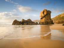 Lumeboo beach in Galicia in a sunny day royalty free stock photo