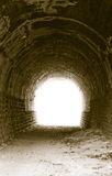 Lumière à l'extrémité du tunnel Photographie stock libre de droits