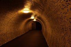 Lumière à l'extrémité du tunnel Images stock