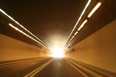 Lumière à l'extrémité du tunnel Image libre de droits