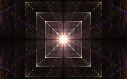 Lumière à la fin d'un tunnel Image stock