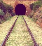 Lumière à la fin du tunnel photographie stock libre de droits